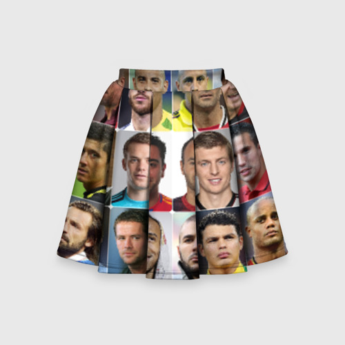 Детская юбка-солнце 3D Великие футболисты