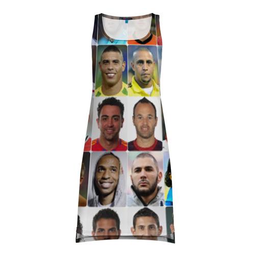 Платье-майка 3D Великие футболисты