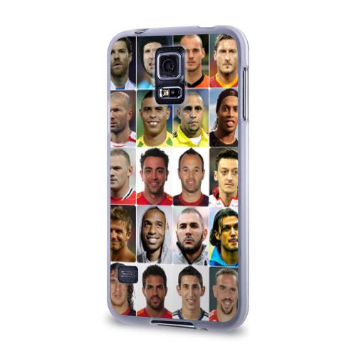 Чехол для Samsung Galaxy S5 силиконовый  Фото 03, Великие футболисты