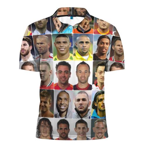 Мужская рубашка поло 3D  Фото 01, Великие футболисты