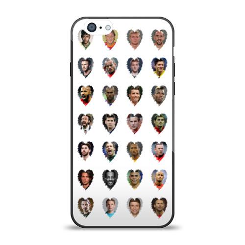 Чехол для Apple iPhone 6 силиконовый глянцевый Любимые футболисты от Всемайки