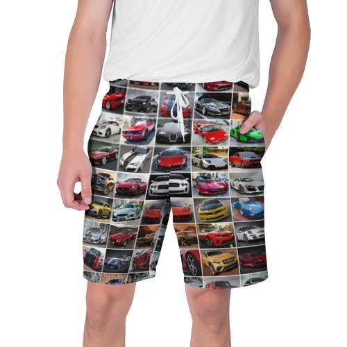 Мужские шорты 3D Крутые тачки