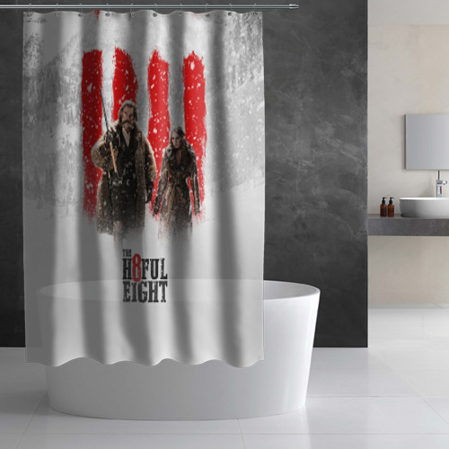 Штора 3D для ванной Восьмерка Фото 01