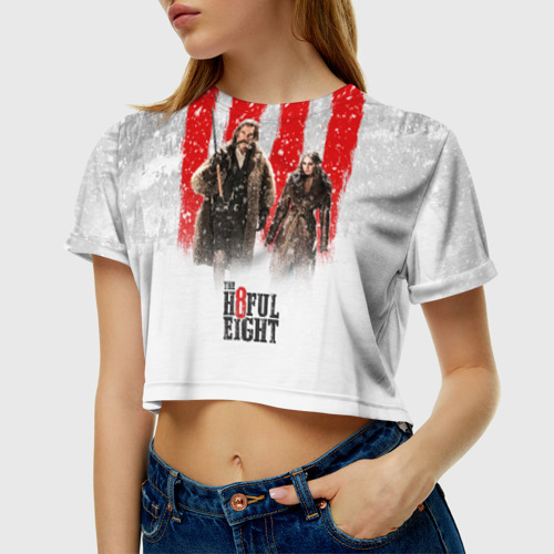 Женская футболка Crop-top 3D Восьмерка Фото 01