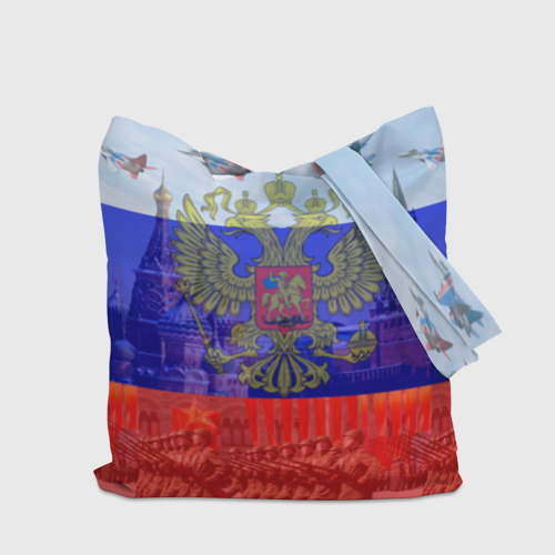 Сумка 3D повседневная Русский медведь и герб Фото 01