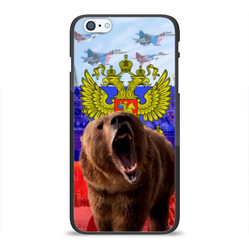 Чехол для iPhone 6Plus/6S Plus глянцевый Русский медведь и герб Фото 01