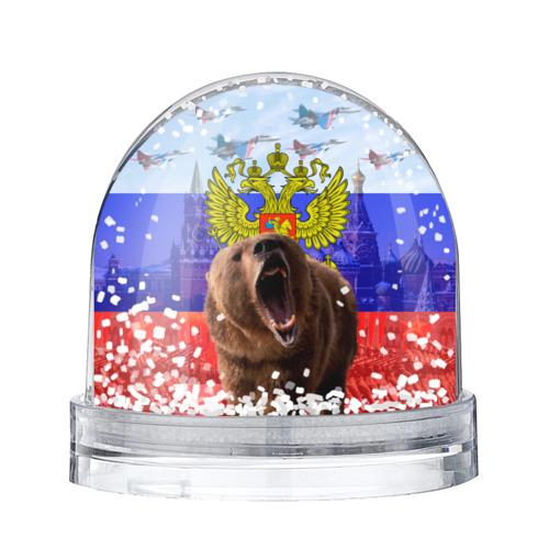 Водяной шар со снегом  Фото 01, Русский медведь и герб