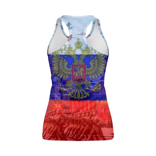 Женская майка 3D спортивная Русский медведь и герб Фото 01