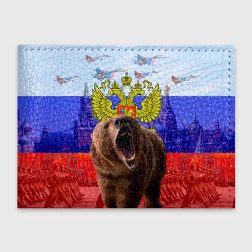 Обложка для студенческого билета Русский медведь и герб Фото 01