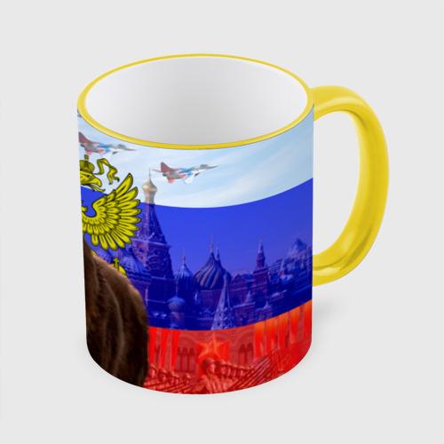 Кружка с полной запечаткой Русский медведь и герб