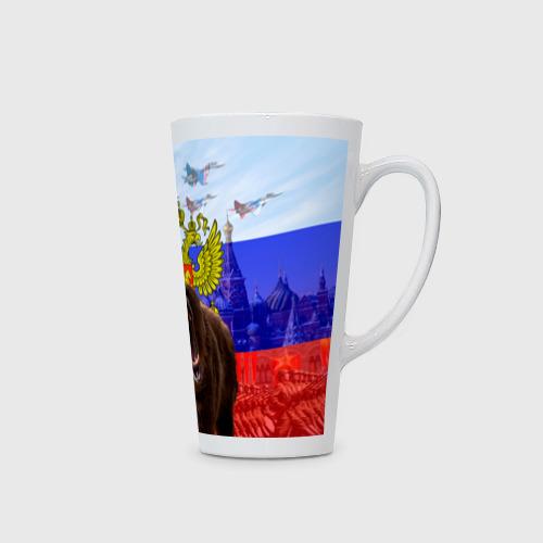 Кружка Латте Русский медведь и герб Фото 01