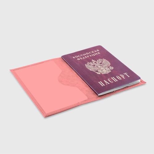Обложка для паспорта матовая кожа Русский медведь и герб Фото 01