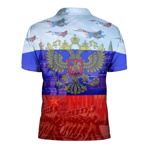 Мужская рубашка поло 3D  Фото 02, Русский медведь и герб