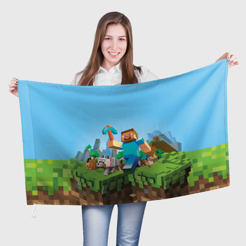 Флаг 3D  Фото 01, Minecraft