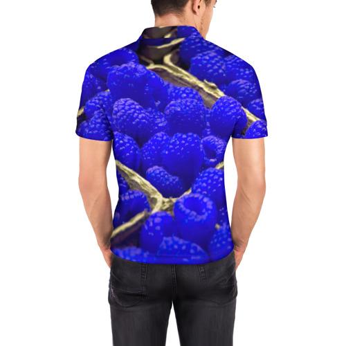 Мужская рубашка поло 3D  Фото 04, Ягода малина