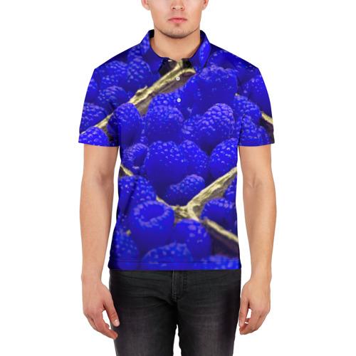 Мужская рубашка поло 3D  Фото 03, Ягода малина