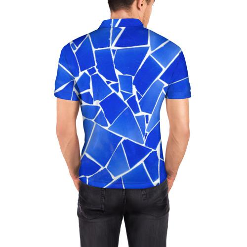Мужская рубашка поло 3D  Фото 04, Битое стекло