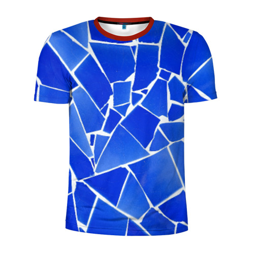 Мужская футболка 3D спортивная Битое стекло