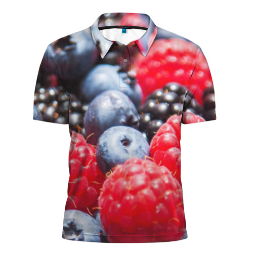 Мужская рубашка поло 3D  Фото 01, Ягоды