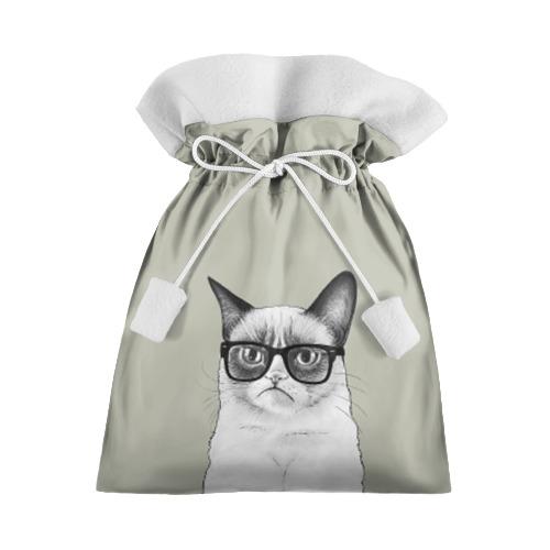 Подарочный 3D мешок Кот - хипстер