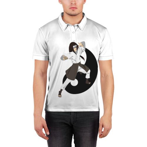 Мужская рубашка поло 3D  Фото 03, Неджи из клана Хьюга