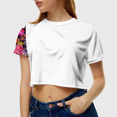 Женская футболка 3D укороченная  Фото 01, Маме
