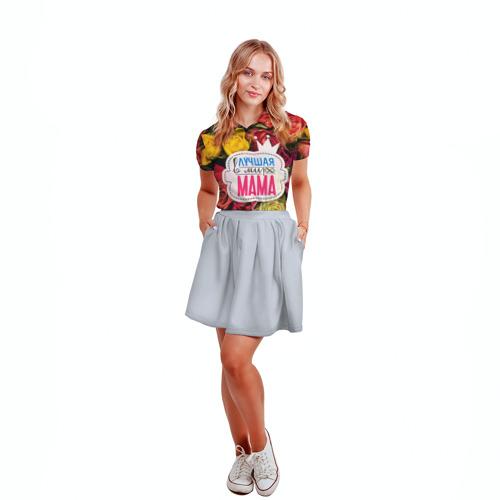 Женская рубашка поло 3D  Фото 04, Маме