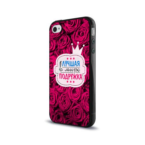 Чехол для Apple iPhone 4/4S силиконовый глянцевый  Фото 03, Подружке