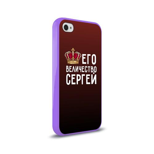 Чехол для Apple iPhone 4/4S силиконовый глянцевый Его величество Сергей Фото 01