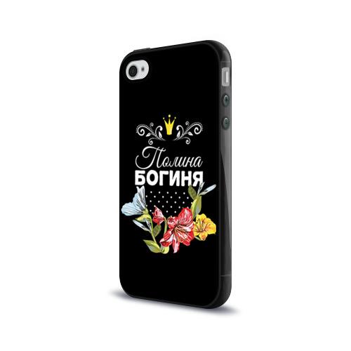 Чехол для Apple iPhone 4/4S силиконовый глянцевый  Фото 03, Богиня Полина