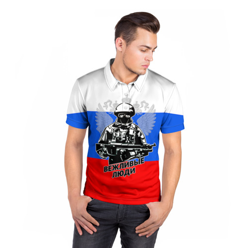 Мужская рубашка поло 3D  Фото 05, Вежливые