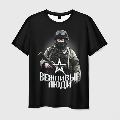 Мужская футболка 3D Вежливая Россия