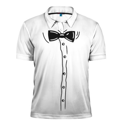 Мужская рубашка поло 3D Костюм с бабочкой
