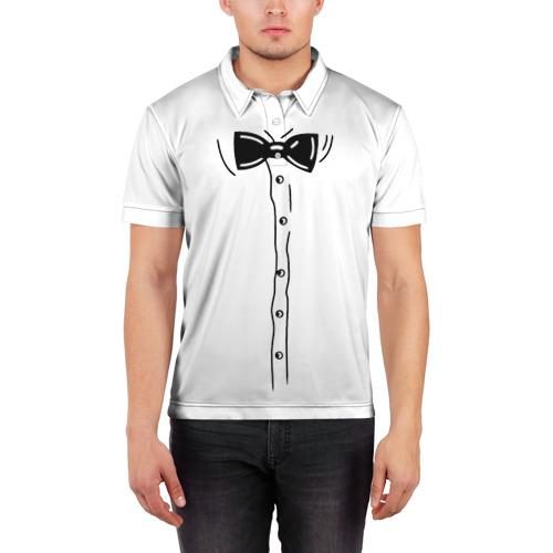 Мужская рубашка поло 3D  Фото 03, Костюм с бабочкой