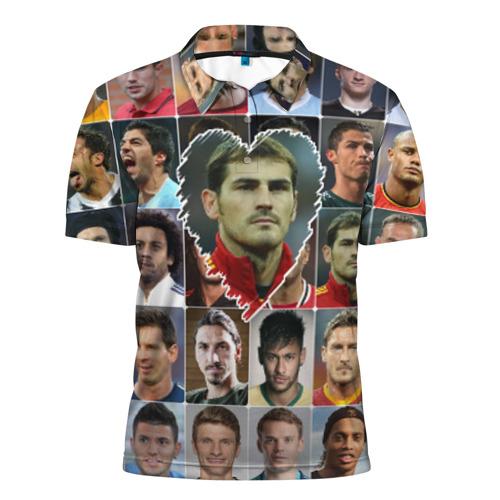Мужская рубашка поло 3D  Фото 01, Икер Касильяс - лучший