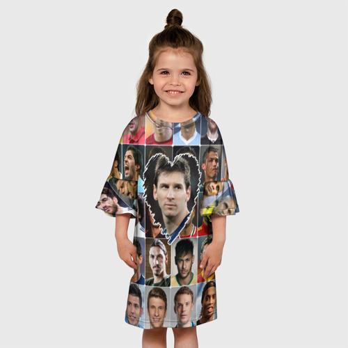 Детское платье 3D Лионель Месси - лучший Фото 01