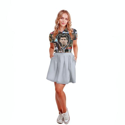 Женская рубашка поло 3D Лионель Месси - лучший Фото 01