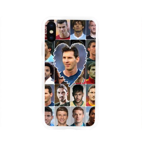 Чехол для Apple iPhone X силиконовый глянцевый Лионель Месси - лучший Фото 01