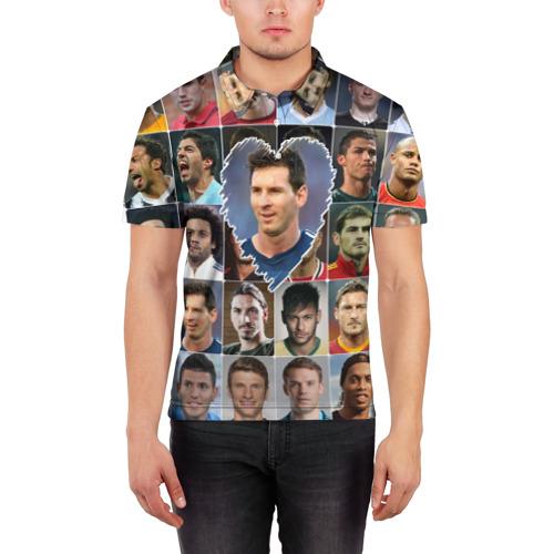 Мужская рубашка поло 3D  Фото 03, Лионель Месси - лучший