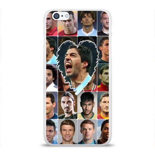 Чехол для Apple iPhone 6Plus/6SPlus силиконовый глянцевый  Фото 01, Луис Суарес - лучший