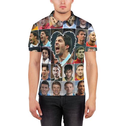 Мужская рубашка поло 3D  Фото 03, Луис Суарес - лучший