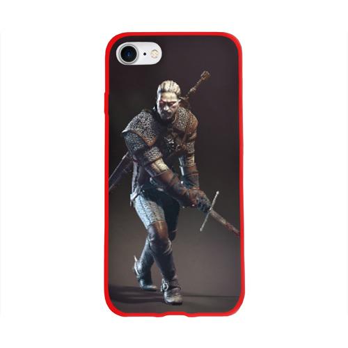 Чехол для Apple iPhone 8 силиконовый глянцевый Witcher 3 Фото 01