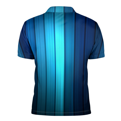 Мужская рубашка поло 3D  Фото 02, Blue lines