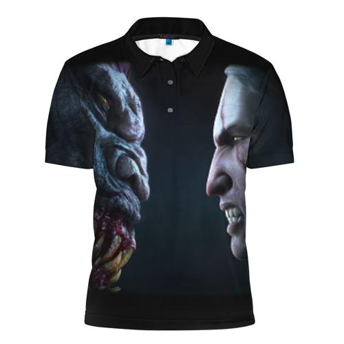 Мужская рубашка поло 3D  Фото 01, Ведьмак