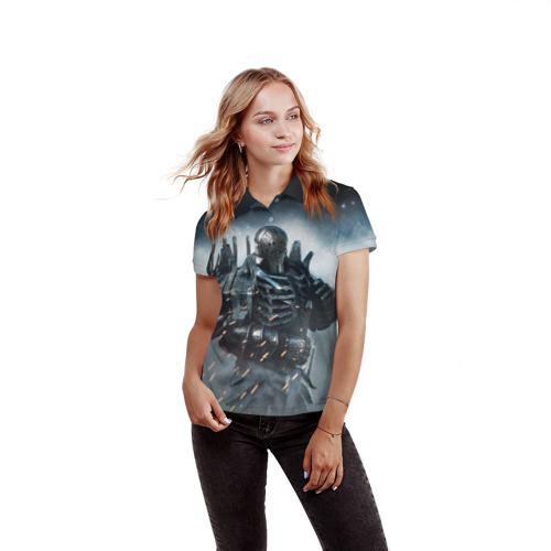 Женская рубашка поло 3D  Фото 03, Wild Hunt