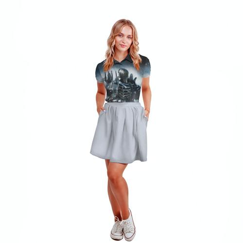 Женская рубашка поло 3D  Фото 04, Wild Hunt