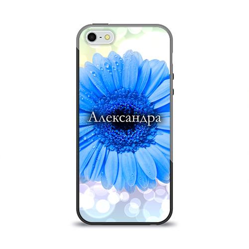 Чехол силиконовый глянцевый для Телефон Apple iPhone 5/5S Александра от Всемайки