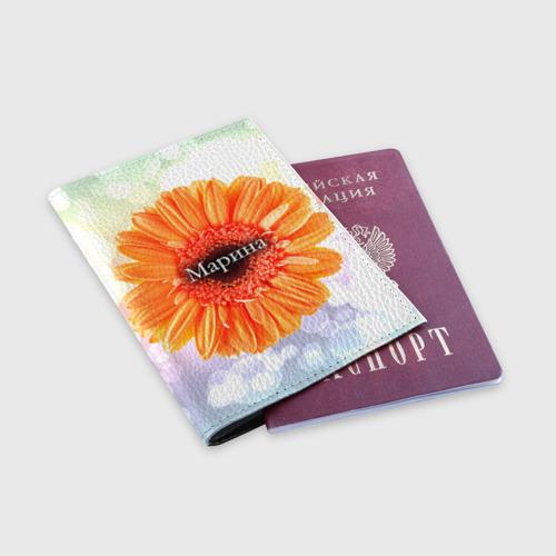Обложка для паспорта матовая кожа  Фото 03, Марина