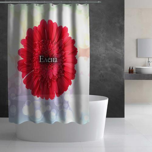 Штора 3D для ванной  Фото 03, Елена