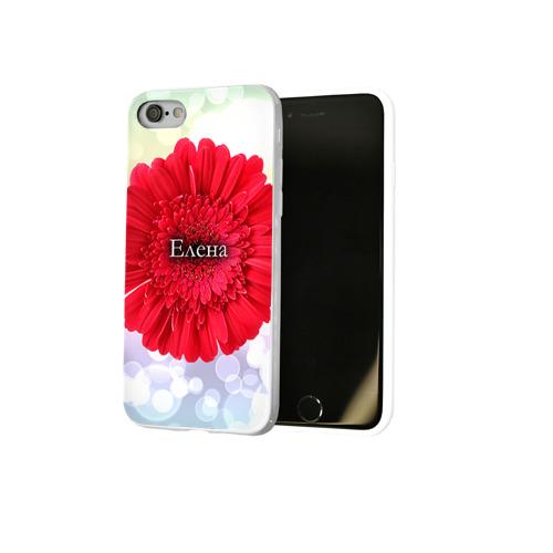 Чехол для Apple iPhone 8 силиконовый глянцевый  Фото 02, Елена